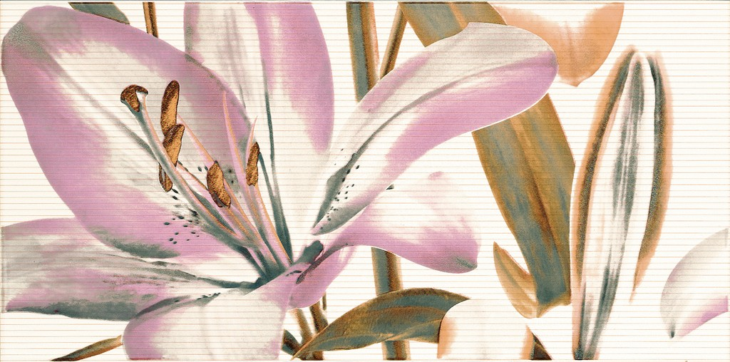 Decor Allegro Beige Flor 1 25x50 декор