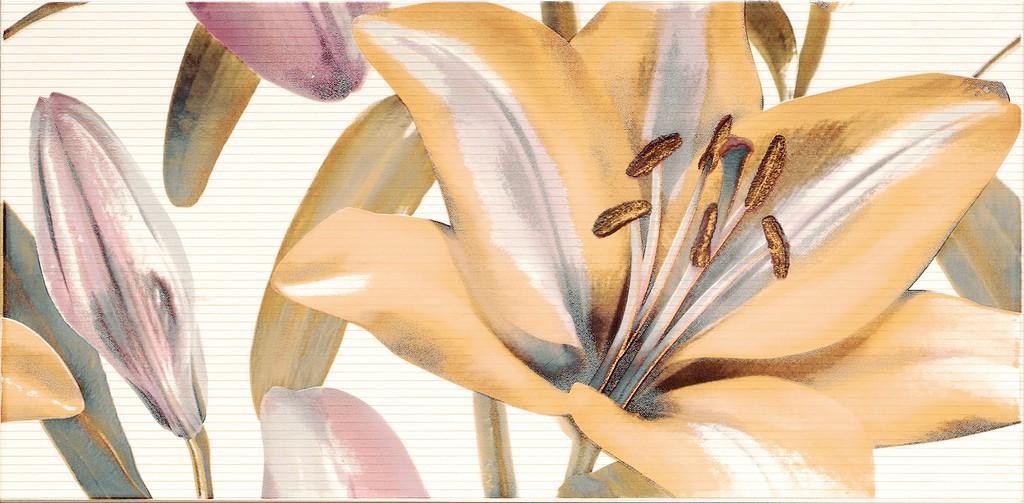 Decor Allegro Beige Flor 2  25x50 декор