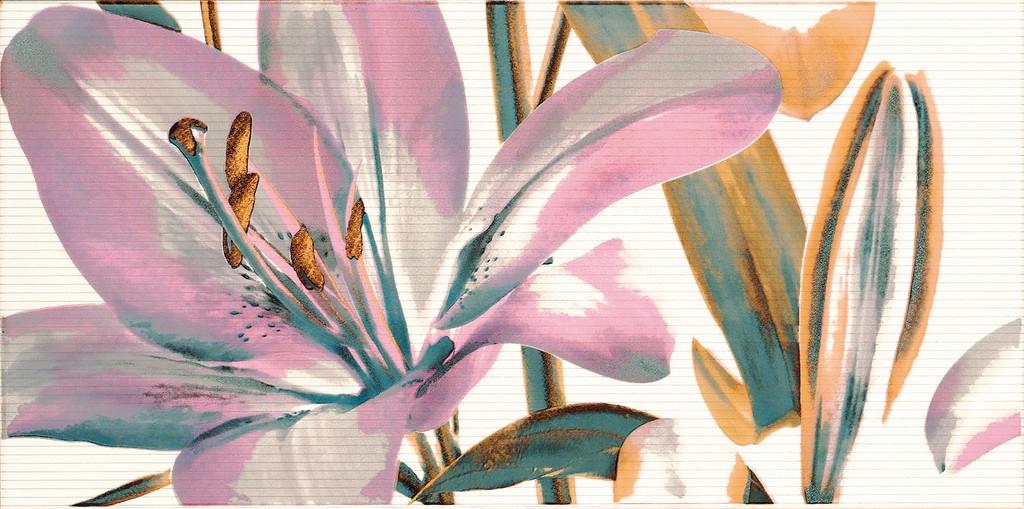 Decor Allegro Malva Flor 1  25x50 декор