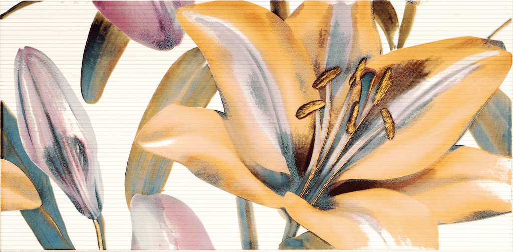Decor Allegro Malva Flor 2  25x50 декор