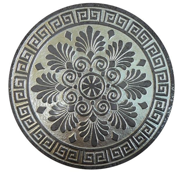 Tondo Decorado Silver 29x29 декор напольный