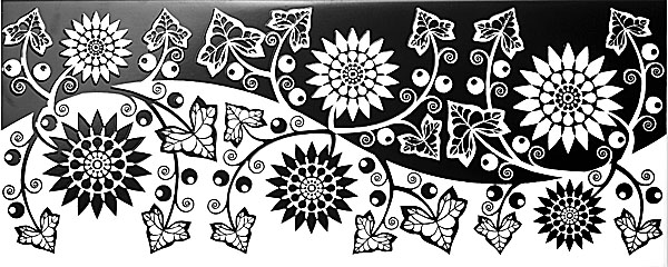 AC96/7000 Аквилон цветы 20х50 декор