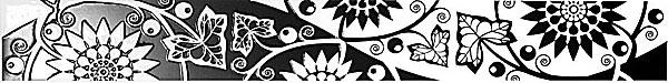 AC102/7000 Аквилон цветы 50х6,3 бордюр