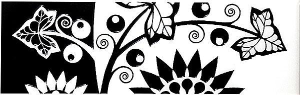 AC101/7000 Аквилон цветы 20х6,3 бордюр