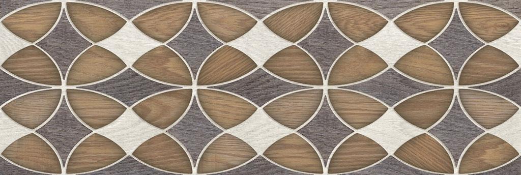 Альберо коричневый  20х60  декор
