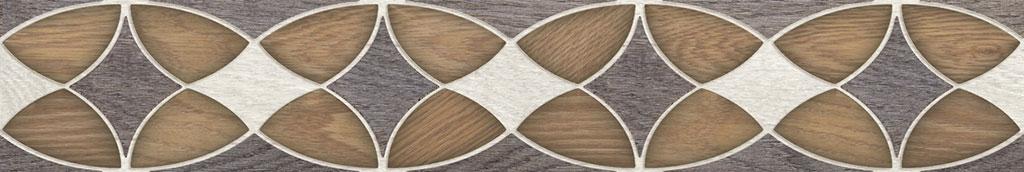 Альберо коричневый 9х60  бордюр